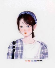 Girls Cartoon Art, Cute Anime Character, Girly Art, Cute Cartoon Images, Cute Art, Cartoon Art Styles, Anime Korea, Cute Cartoon Drawings, Cute Drawings