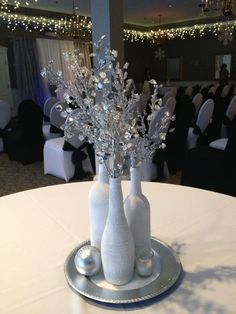 Silver Centerpiece | DIY New Years Eve Party Ideas for Teens | DIY New Years Eve Wedding Decorations