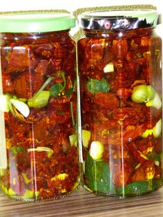 Sušené rajčiny Salsa, Food And Drink, Healthy Eating, Stuffed Peppers, Homemade, Canning, Vegetables, Drinks, Eten