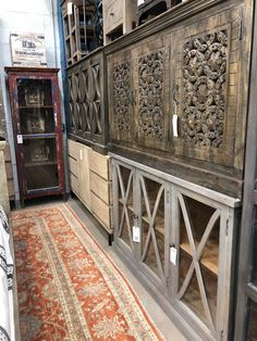 We offer a vast selection of furniture in many lengths, shapes & sizes!!  All are handcrafted but some are hand carved.  Others feature solid wood & glass.  Others offer drawers & cabinet doors.  Some are from reclaimed wood.  But one thing they all have in common is NO fake wood EVER!!  We use only solid wood, solid iron & full hide leather!!  www.manzelinc.com and Manzel, 96 Foster St., Peabody, Ma Media Furniture, Rustic Wood Furniture, Online Furniture Stores, Center Console, Wood Glass, Media Center, Cabinet Doors, Hand Carved, Solid Wood