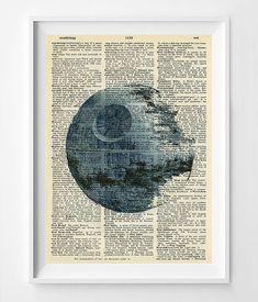 Star Wars Art  Star Wars Dictionary Print  by FlyingPalmStudio