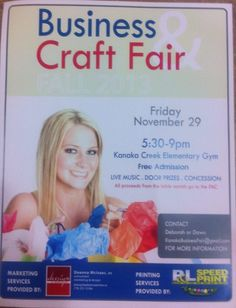 Poster for Kanaka Creek Elementary annual Business and Craft Fair. Design by Deanna McIsaac 2013.