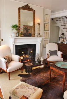 Garden, Home and Party: Romance at Home and a lovely fireplace mantel
