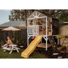 Cubby Houses from Hide & Seek Kids® are designed to provide children with room for expression - and, of course, room to play - so that they can give free rein to their dreams. Hide & Seek Kids® is Australia's most loved Cubby House supplier. Kids Cubby Houses, Kids Cubbies, Play Houses, Cubby House Plans, Backyard Playhouse, Backyard Playground, Backyard For Kids, Natural Playground, Playground Ideas