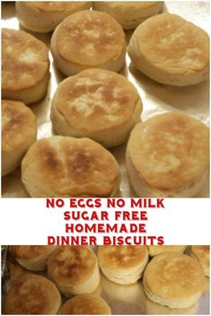 No Eggs No Milk Homemade Dinner Biscuits. Out of milk Out of eggs Don t fret. You can still make these simple biscuits. Best Homemade Biscuits, Vegan Biscuits, Buttermilk Biscuits, Egg Free Recipes, Snack Recipes, Vegan Recipes, Vegan Meals, Vegan Food, Healthy Food