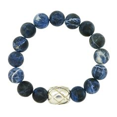 Simon Sebbag Sterling Sodalite Bead Bracelet | A gift from my sister, which reminds me of ocean-washed glass trading beads