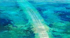 the underwater railways in spirited away Underwater Art, Studio Ghibli Art, Gifs, Ghibli Movies, Spirited Away, Hayao Miyazaki, Fantastic Art, Amazing, Train Tracks