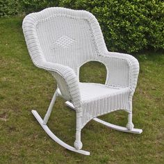 International Caravan Chelsea Resin Wicker Porch Rocker (Set of (Water Resistant - White - Wicker Chairs/Rocking Chairs/Accent Chairs), Outdoor Patio Furniture Wicker Rocker, Wicker Rocking Chair, Outdoor Rocking Chairs, Wicker Sofa, Patio Chairs, Wicker Trunk, Wicker Table, Dining Chairs, Outdoor Wicker Chairs