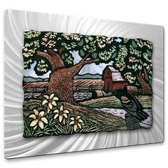 'Day Lilies' by John Schirmer Graphic Art Plaque