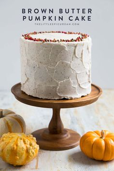 Brown Butter Pumpkin Cake- The Little Epicurean Fall Desserts, Dessert Recipes, Fall Cake Recipes, Biscuits, Thanksgiving Cakes, Fall Cakes, Fall Baking, Brown Butter, Savoury Cake