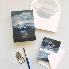 Rustic Night Wedding Invitations | Smitten on Paper
