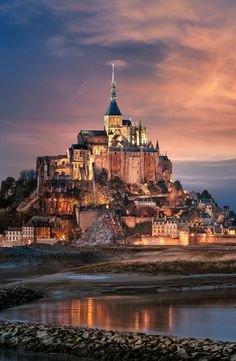 Mont Saint-Michel in Normandy, France Mont Saint Michel France, Le Mont St Michel, Saint Michael France, Beautiful Places In The World, Beautiful Places To Visit, Places Around The World, Around The Worlds, Best Places To Travel, Places To See
