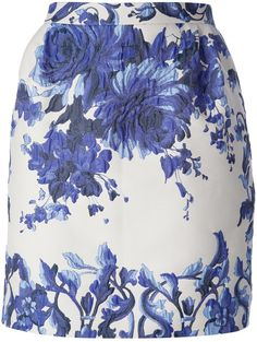 Valentino floral jacquard skirt on shopstyle.com