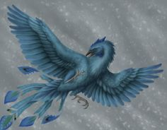 A blue phoenix? It might be rather odd, but I believe as the legend goes a young phoenix newly risen from the ashes is blue and as it ag. Fantasy Creatures, Mythical Creatures, Fire Image, Phoenix Rising, Creature Concept, Fantastic Beasts, Mythology, Fantasy Art, Art Photography