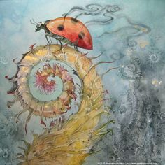 """Ladybird"" - Stephanie Pui-Mun Law - Shadowscapes. http://www.shadowscapes.com/image.php?lineid=46&bid=1209"