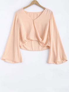 SHARE & Get it FREE | Bell Sleeve V Neck Crossed TeeFor Fashion Lovers only:80,000+ Items • New Arrivals Daily Join Zaful: Get YOUR $50 NOW!