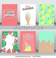 Find Summer Holiday Vacation Poster Set Flat stock images in HD and millions of other royalty-free stock photos, illustrations and vectors in the Shutterstock collection. Diy Notebook Cover, School Notebooks, Cute Notebooks, Holiday Crafts, Holiday Fun, Diy Back To School, Diy School Supplies, Birthday Cards, Diy And Crafts