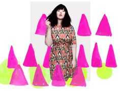 colorful shapes moving in front of meghan. #bendtherules