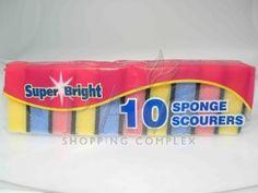 Sponge Scourers 10 Pack