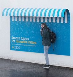 Functional outdoor advertising promotes the IBM brand and adds useful street furniture to different cities all over the world. : Smart Ideas for Smarter Cities