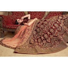 Buy Hypnotic Maroon Colored Partywear Embroidered Pure Velvet Lehenga Choli at Rs. Get latest Lehengas for womens at Peachmode. Bridal Lehenga Online, Designer Bridal Lehenga, Lehenga Wedding, Bridal Lehenga Choli, Bridal Outfits, Bridal Dresses, Wedding Dress, Indian Wedding Wear, Lehenga Collection