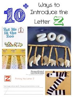 Are you looking for fun ways to teach the alphabet? Here are 10 great ways to introduce the letter Z with crafts, books and activities! Zoo Preschool, Preschool Letters, Alphabet Activities, Preschool Learning, Preschool Activities, Animal Activities, Kindergarten Reading, Letter Z Crafts, K Crafts
