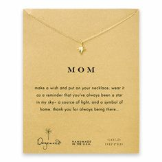 mom north star necklace, gold dipped - Dogeared