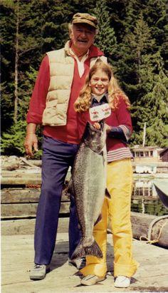 John Wayne and His Daughter, Marisa Wayne, John Wayne Quotes, John Wayne Movies, Hollywood Stars, Classic Hollywood, Old Hollywood, Iowa, Easy Listening, Westerns, Wayne Family