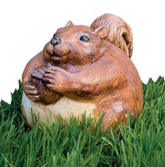 Amazon.com : Evergreen 84889 Garden Portly, Squirrel, 6.5-Inches x 5.5-Inches (Discontinued by Manufacturer) : Home Pest Control Products : Patio, Lawn & Garden