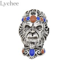Vintage Metal Alloy Skull Elephant Spacer Beads Drops Of Glaze Buddha Beads Nepal Beads For Jewelry Making