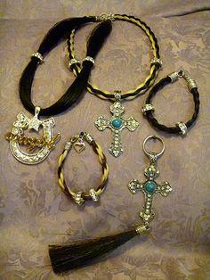 horse hair jewelry, Cross, horse, hair, jewelry