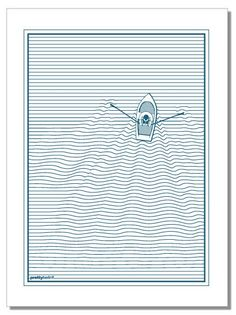 Boat and linear wave - tea towelhttps://www.prettyberlin.com/collections/tea-towels/products/whale-tea-towel