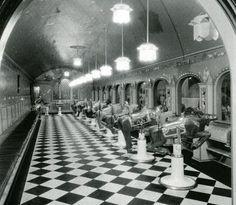 The children's barbershop inside of Hudson's, Detroit, MI
