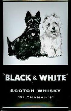 BLACK AND WHITE WHISKY Metal Pub Sign | Vintage Retro | Home Bar