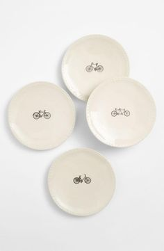 For the kitchen: cute bicycle plates.