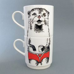 oh my gosh, I adore these otter mugs! A bit pricy, though.