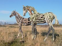 Community Post: Beautiful Driftwood Horse Sculptures