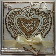 Trifold Shutter Cards, Marianne Design Cards, Die Cut Cards, Stamping Up, Anniversary Cards, Wedding Cards, Cardmaking, Projects To Try, Diy Crafts