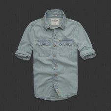 Mens Denim shirt (ambercrombie and fitch)