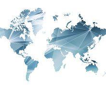 Wall mural - Geometric Concept World Map