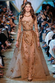 Elie Saab Fall 2017 Couture Fashion Show - Marie Damian