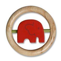 Baby Holzspielzeug Elefant in Rot