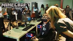 We played Minecraft in VR with the Oculus Rift