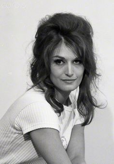 French singer Dalida. Date Photographed:June 20, 1963
