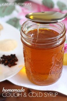 It takes only 20 minutes to make this amazing homemade cough and cold syrup! It helps decongest the sinuses, ease sore throats, and keep coughing to a minimum!
