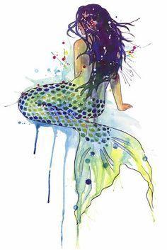 mermaid abstract art - Google Search