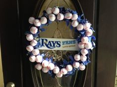 Tampa Bay Rays Baseball Wreath