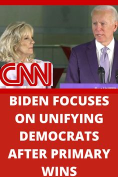 Joe Biden focused on unifying Democrats in an address to supporters after his primary wins tonight, saying he and Bernie Sanders share a common goal: defeating Donald Trump.