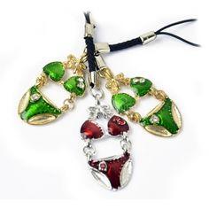 New Fashion 6pcs Bikini Mobile Phone Key Chain Cellphone Decorative Accessories Strap Swimsuit US$3.10