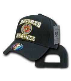 MARINE CORPS VETERAN Cap Hat United States Marines Military USA Red NWT U.S